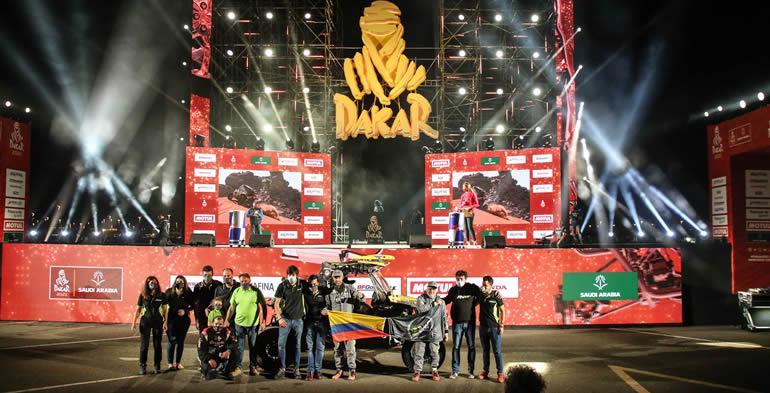 Javier Vélez y Mateo Moreno conquistaron el Rally Dakar 2021en la modalidad de Dakar Experience