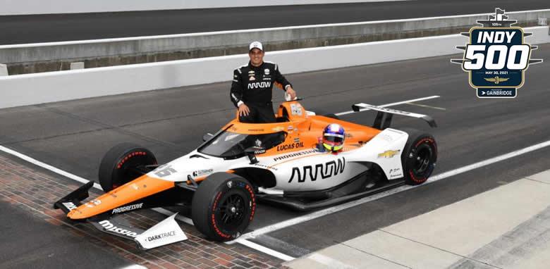 Juan Pablo Montoya corre la edición 105 de las 500 Millas de Indianápolis este domingo 30 de mayo