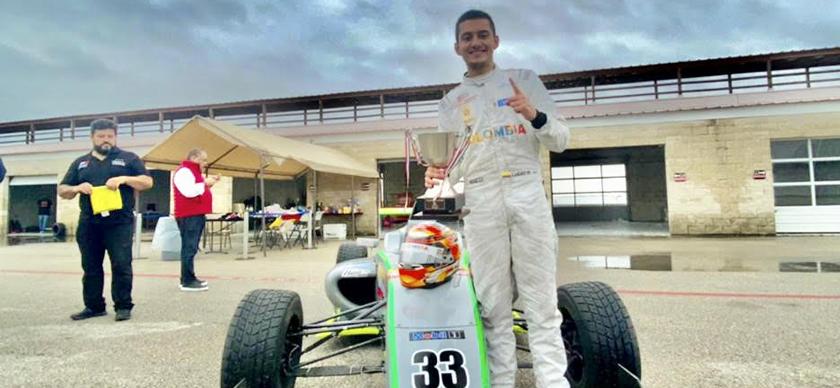 Lucas Medina sumó un triunfo y dos segundos lugares en la primera válida del Nacam FIA de F4