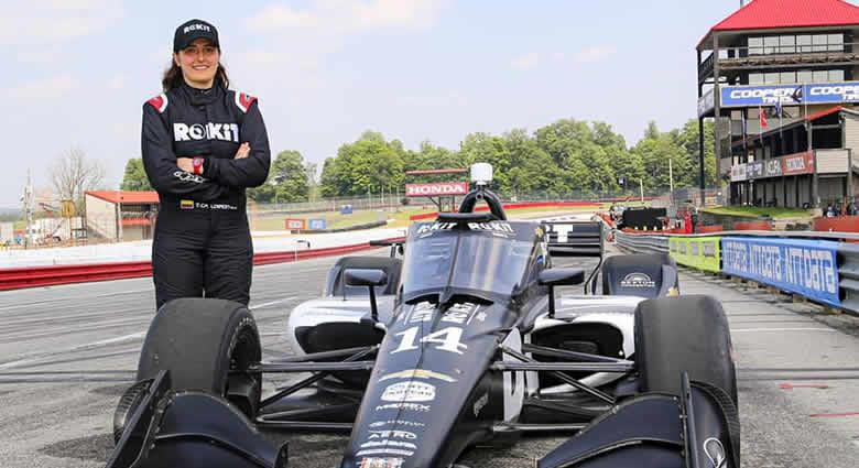 Tatiana Calderón cumplió exitoso test en IndyCar