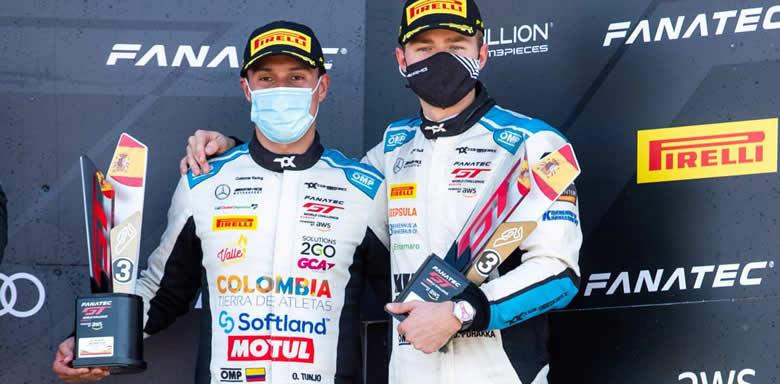 En Valencia Oscar Tunjo cerró con podio su participación en el Campeonato Sprint del GT World Challenge